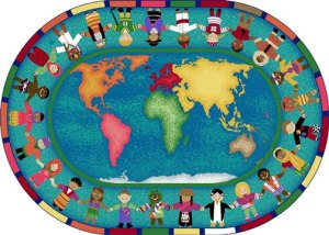 children around the world rug